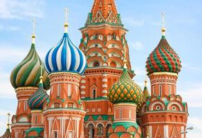 st. basilika domkyrka på Röda torget, Moskva, Ryssland foto