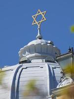 Moskva centrala synagoge kupol foto