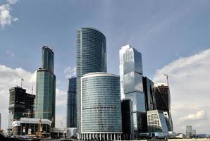 panorama över det internationella affärscentret, Moskva foto
