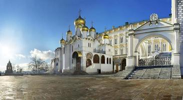 katedralen torg i Moskva kreml med kungöring för uttalande foto