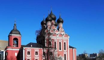 kyrkan av tikhvin ikonen för theotokos, Moskva, Ryssland foto