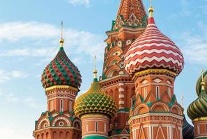 helgonbasilkatedralen i Moskva, Ryssland foto