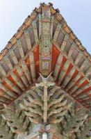 forntida asiatisk arkitektur, takdetalj foto