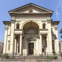 saint gioachimo kyrka, facede, milan, italien foto
