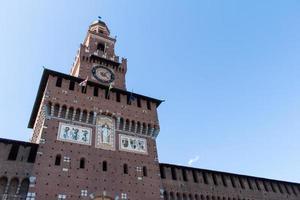 sforzesco sforza slott. castello i milan, italien. foto