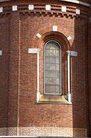 rosa fönster italy lombardi i den gamla campo kakel foto