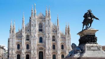 Italien. milan duomo. katedral foto