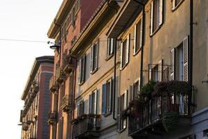 navigli distrikt kanal lägenhet foto