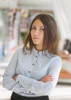 ung affärskvinna. foto