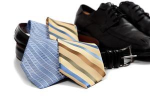 diverse accessoarer för herrkläder foto