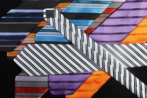färgglada slipsar för män foto