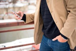 med smart telefon foto