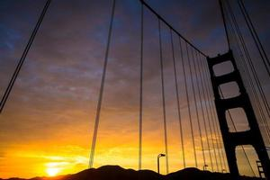 gyllene porten solnedgång foto