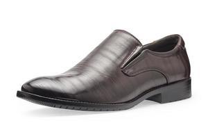 singel av klassiska bruna läderskor för män, utan skosnören foto