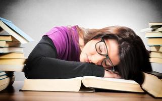 trött kvinna foto