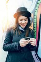 kvinnlig textning foto