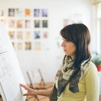 kvinnlig arkitekt / designer