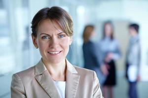 kvinnlig ledare foto