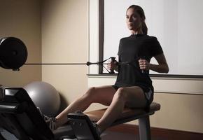 kvinnliga fitness-serien foto
