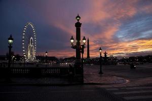 solnedgång i Paris foto