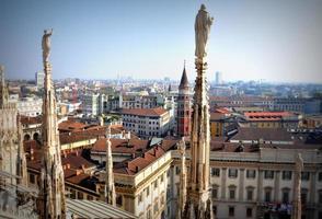 piazza del duomo i milan, italien foto
