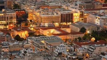 athensiska hustak, Grekland.