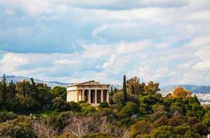 templet för hephaestus i Aten foto