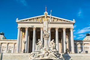 österrikiska parlamentet i vienna foto
