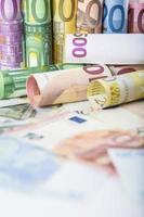 europeiska pengar bakgrund foto