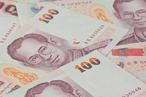thailändska sedlar (baht) för pengar och affärsidéer foto