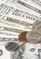 pengar. US dollar foto