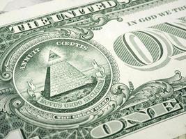 en dollar räkning foto