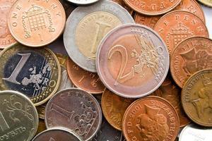 mineral deposition av pengar foto