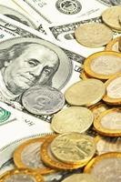 närbild pengar bakgrund foto