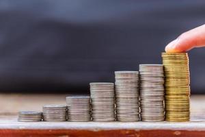 deponera din budget för investeringar foto