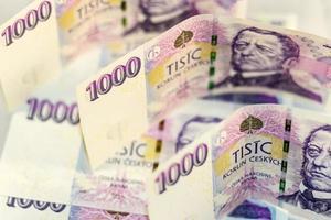 tjeckiska pengar 1000 foto