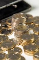 pengar, ekonomi. euromynt foto