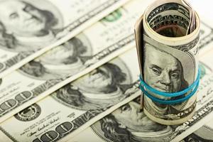 pengar till amerikanska dollar foto