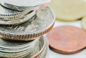 olika mynt foto
