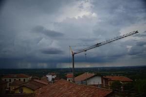 före regn, bruno, italien foto