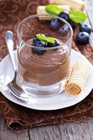 hälsosam avokado chokladpudding foto