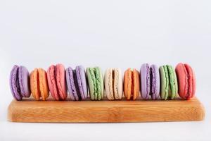 traditionella franska färgglada makroner foto