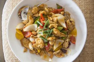 stekt kyckling med cashewnötter