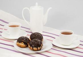 munkar och kaffe foto