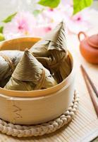 kinesisk mat ris klimpar foto