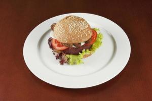 hälsosam hamburgare foto