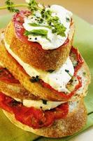 närbild av en smörgås foto