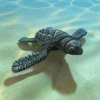 Behandla som ett barn havssköldpaddan 3d foto