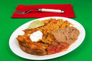 enchiladas tallrik foto