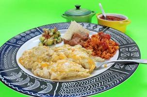 äter enchilada middag foto